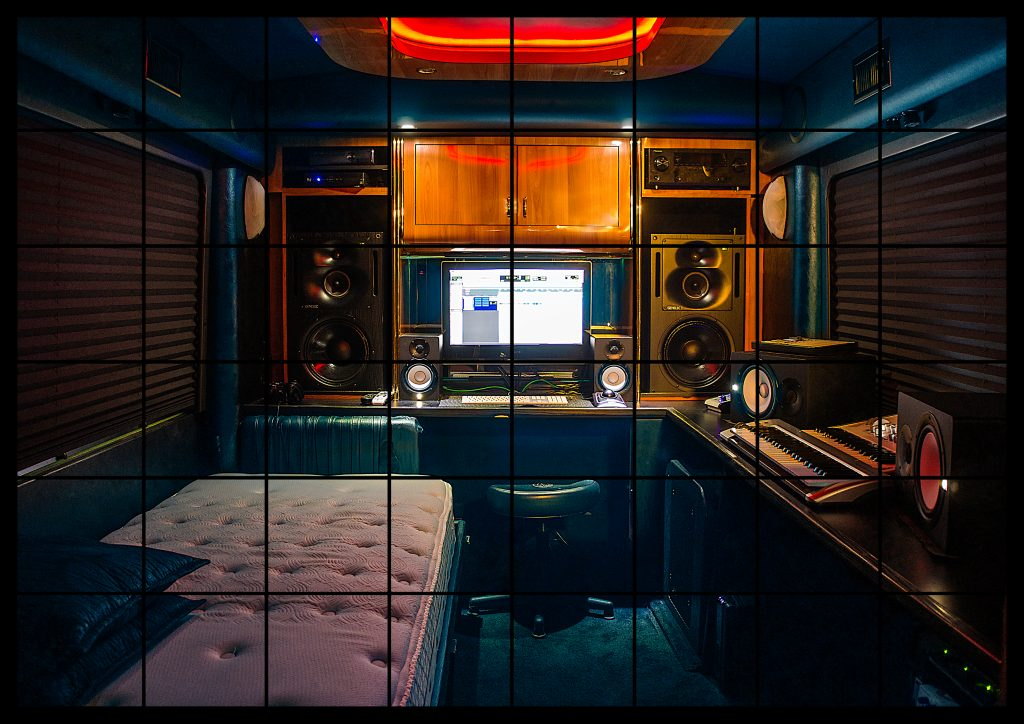 recording studio on a bus for Major Touring
