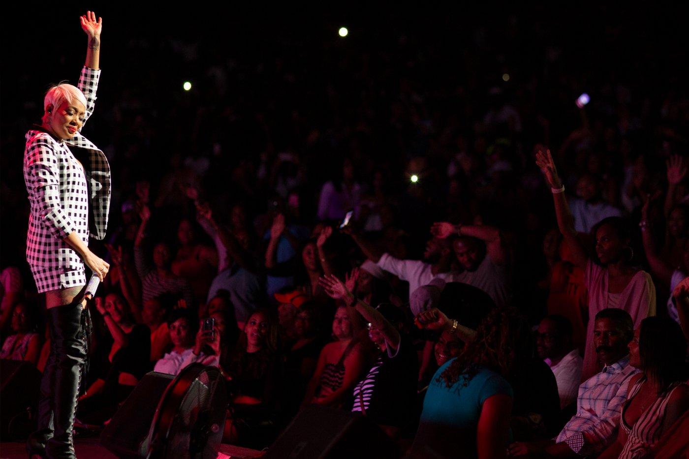 Singer Monica Live In Concert content gathering